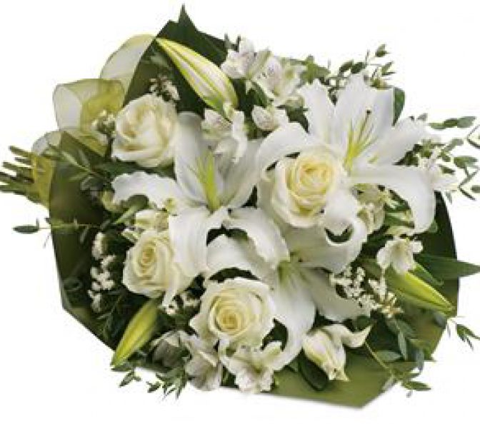 Simply white local florist shops flowers for death condolences mightylinksfo